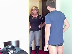 German Young Guy Seduce Milf To Get His First Fuck