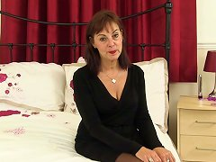 Classy Mature Lady In Lingerie Dildoing Her Sensitive And Hungry Cunt