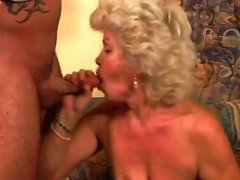 Young Handsome Freak Has Hard Fuck With Dumpy Old Whore
