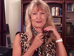 Hairy Blonde Mature Cunt Is So Pretty As The Lady Masturbates