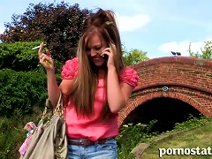 Young And Frisky Willow Mai Is  Cigarette Outdoors