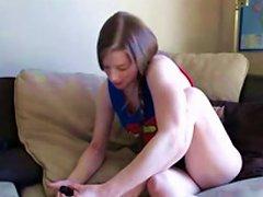Sexy Amateur Girl Gemma Massaging Her Beautiful Long Legs