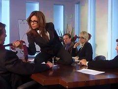 Kirsten Price Fucks Her Two Workmates