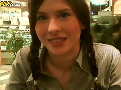 Sextractive Russian Bimbos Tanata Gives A Head In Public Toilet
