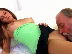 Sexy Young Chick Alyona Fuck With Old Man