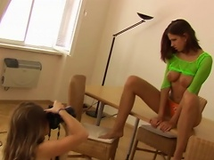Slim Teen Is Taking Pictures Of Her Hot Friend