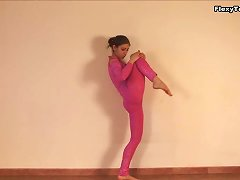 Petite Beauty Irina Galkina Enjoys Stretching Her Hot Body
