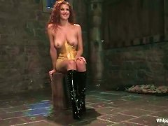 Curly Redhead Chick Get Punished By Two Other Girls