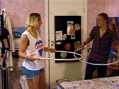 Sporty Teen With Hula Hoop Gives Best Ever Blowjob To Her Boyfriend