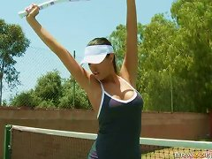 Sensual And Busty Tennis Player Kortney Kane Fucks Her New Coach On Court