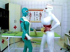 Clanddi Jinkcego And Latex Lucyin A Naughty Pussy Fingering In Fetish Scene