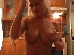 Busty Russian Blonde Gives Sloppy Head Before Cleaning The Room