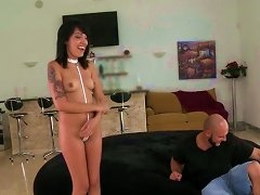 Slim Chick With Small Tits Seduces A Taxi Driver To Have A Casual Sex