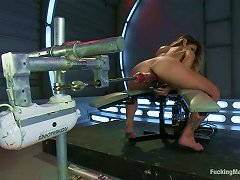 Fucking Machine And Sybian Give Blonde Multiple Orgasms