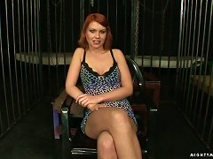Redhead Slave Valerie Gets Her Coochie Oiled And Fisted In Bdsm Clip