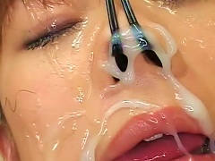 Young Japanese Gets Filled With Jizz