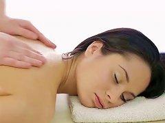 Delightful Massage Session For Tempting Brunette Teen