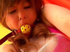 Gagged Teen Miku Airi In Nude Japanese Bondage