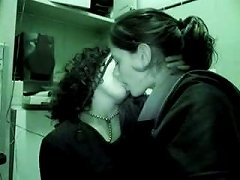 Way Over Horny Babes Enjoy That Lesbian Kiss With Each Other