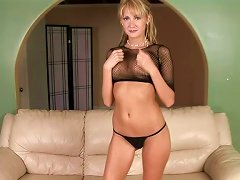Blonde Cougar In Erotic Solo Act Flaunting Her Dangerous Curves