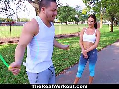 Hot Workout Teen Fucked After Session