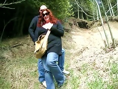 Mature Bbw And That Teen Are In A  Hay