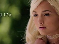 Angelic Blonde Teen Plays With Bbc For The First Time