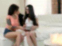 Raunchy Freshmore Girls Threesome Sex