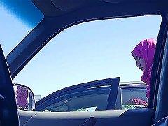 Hijabi Flashing Parking Lot