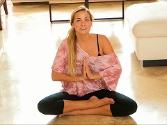 Amateur Blonde Babes Performs Naked Yoga For Sexual Revival