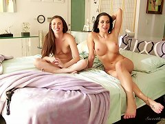 Stunning Busty Milf Bitches Talking About Their Love For Lesbian Teens