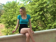 Busty Beauty In A Miniskirt Milks A Cock In A POV Shoot