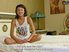 Virgin Casting With Cute Melinda