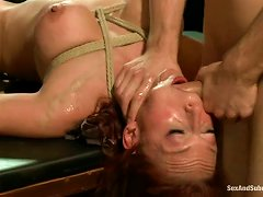 Redhead Nicki Hunter Gets Gagged And Fucked Rough
