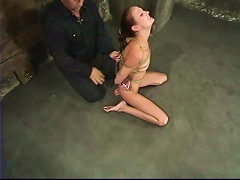 Sexy Hailey Young Gets Hog Tied And Toyed With A