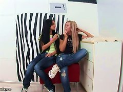 Delightful Teens Are Enjoying Each Other's Holes