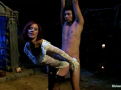 Guy Gets Sexually Abused By A Freak Bondage Fanatic. She's A Torturer!