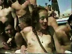 1998 Spring Break Pussy Shaving Contest Of Young Beauties