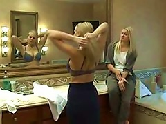 Blonde Seduces A Hot Blond Teen In Lesbian Action Vid