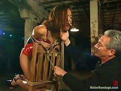 Sadistic Torturer Gets New Machines For His Victim's Pleasure!