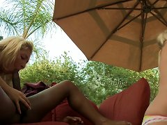 Blonde Babe With Big Lips Enjoys Taking Bick Black Cock In Her Twat Outdoors