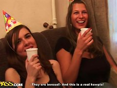 Lovely Ladies Enjoy Their First Week In College With An Orgy