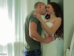 Buxom Teen Hottie In A White Dress Fucked Erotically