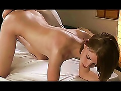 Insanely Hot  Teen Gets A  Lesbian Massage With Sex