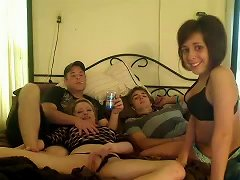 Teen Foursome In A Homemade Video