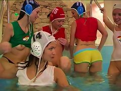 Crowd Of Sassy Chicks Decide To Have A Nasty Lesbians Orgy In The Swimming Pool