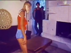 Blonde Teen Gets A  And An   - Retro Threesome