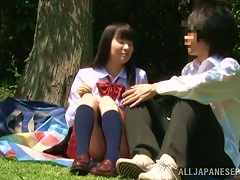 Nasty Japanese Teen Jumps On Her Bf's Prick In The