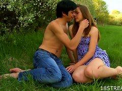 Erotic Teen Lovemaking In The Grass