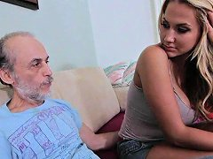 Old Man Pounds Alanah Rae In A Hardcore Video